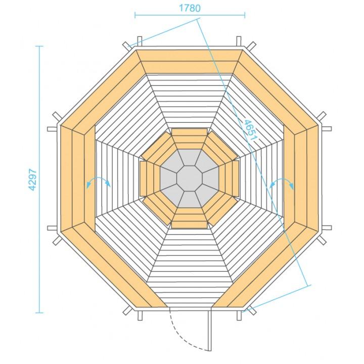14.9 m² GRILL-KOTA