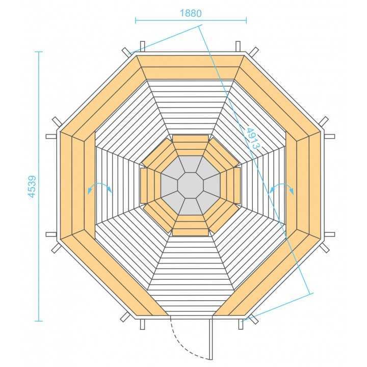 16.5 m² GRILL-KOTA