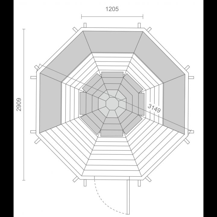 6.9 m² GRILL-KOTA