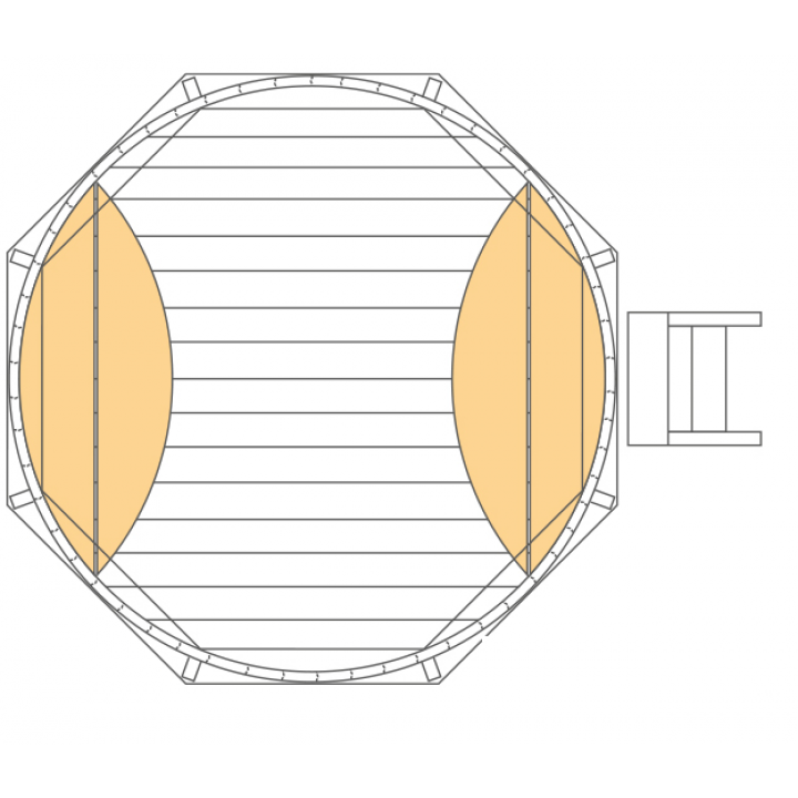 Ø1,2m Tauchbottich (COLD TUB) aus Fichtenholz
