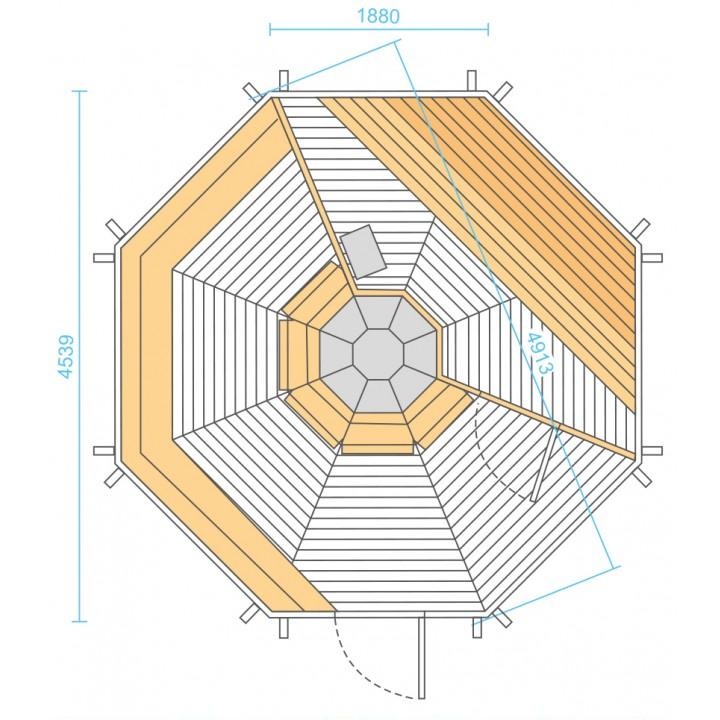 GRILL-SAUNA-KOTA 16,5m²