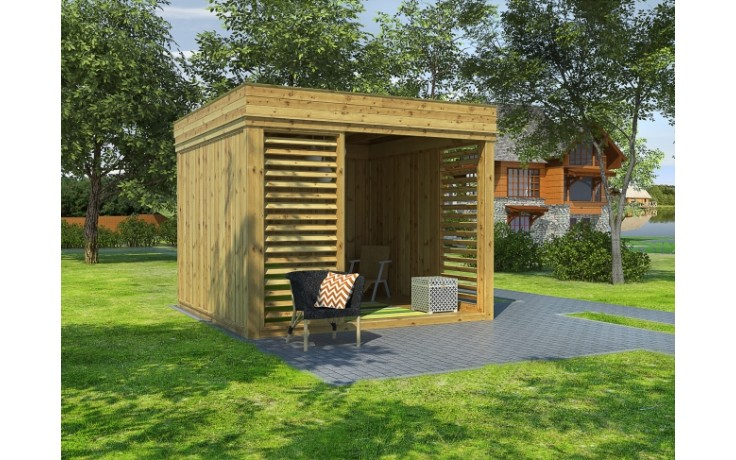 isolierter Garten Cube / Garten Lounge 3x3m