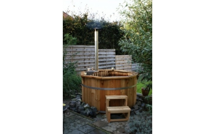 Ø1,9m Badetonne (HOT TUB) aus Thermo-Holz