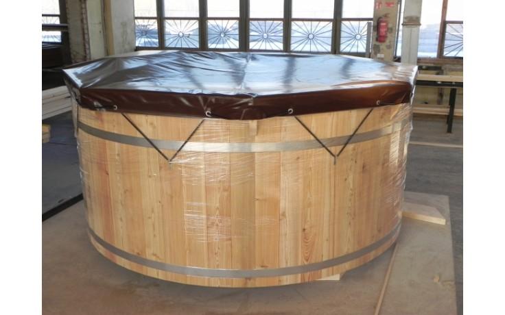 Abdeckplane für Ø1.5m X 0.85m ovaler Tauchbottich aus Fichtenholz