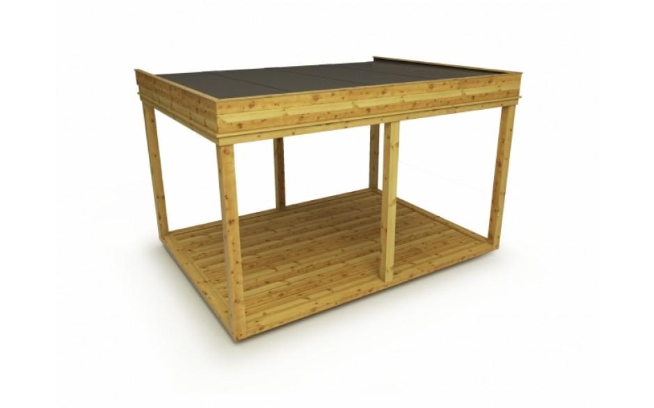 isolierter Garten Cube / Garten Lounge 4x3m