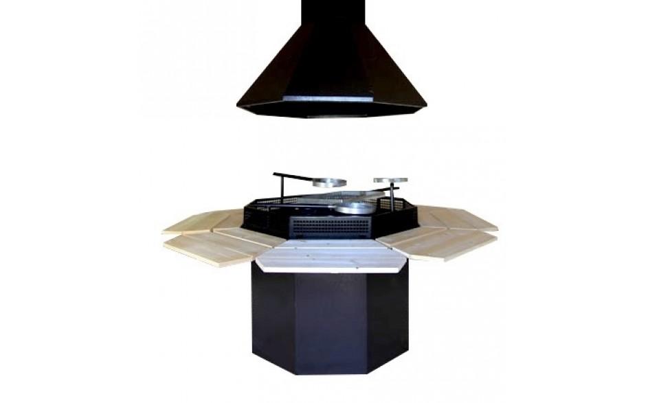 Standard 8-eckiges Grill- und Rauchabzug-Set
