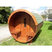 SAUNA-FASS aus Fichtenholz ( 3m lang / Ø1,9m)