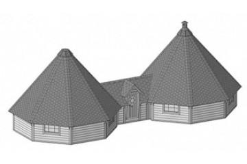 25 m² + 25 m² Doppel Grill-Kota