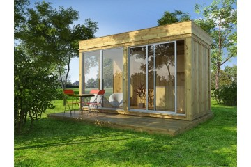 isolierter Garten Cube / Garten Lounge 4x2m