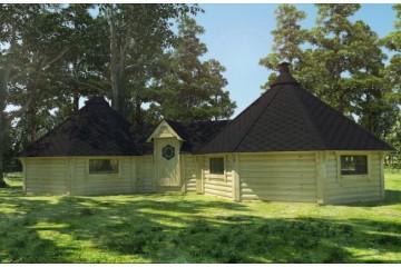 16.5 m² + 16.5 m² Doppel Grill-Kota