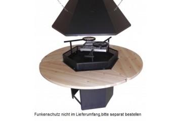 """""""PREMIUM"""" 6-eckiges Grill- und Rauchabzug-Set"""