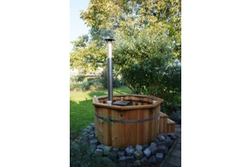 Ø1,5m Badetonne (HOT TUB) aus Thermo-Holz
