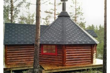 16.5 m² GRILL-KOTA mit Anbau (2.9 m²)