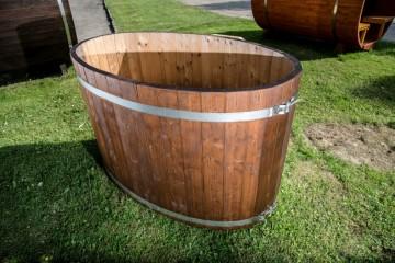 Ovaler Tauchbottich (COLD TUB) aus Fichtenholz