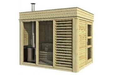 Sauna Cube 2 x 3 m mit Umkleideraum