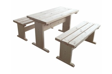 Tisch und Bänke für Kota 25 m²